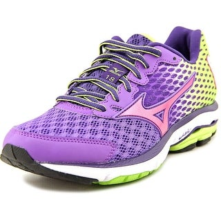Mizuno Wave Rider 18 Women Round Toe Synthetic Purple Running Shoe
