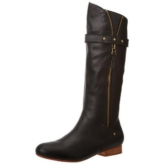 FIEL Womens Longs Mid-Calf Boots Leather Zipper Detail