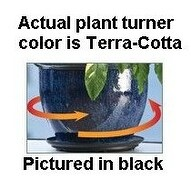 Plant Stand 41630 Lazy Susan Plant Turner - Terra-cotta