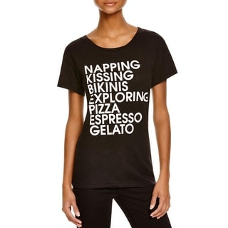 Wildfox Couture Womens T-Shirt Graphic Short Sleeves