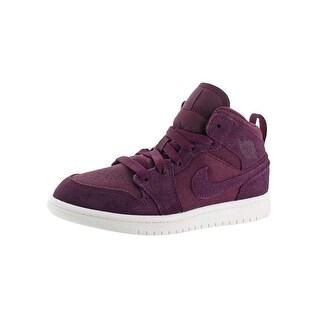 Jordan Boys 1 Mid BP Fashion Sneakers Perforated Athletic - 13.5 medium (d) little kid