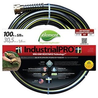 "Element ELIH58100 Industrial Pro Garden Hose, 5/8"" x 100'"