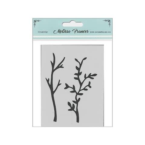 St4052 melissa frances stencil 3x4 branches