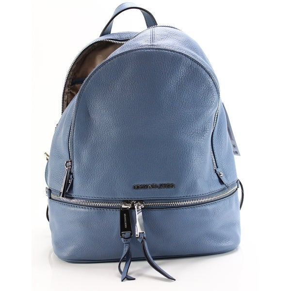 c4e556b6e29b Shop Michael Kors NEW Rhea Denim Blue Backpack Style Leather Handbag ...