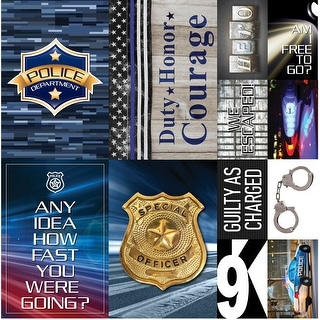 "Police Poster Sticker 12""X12""-"