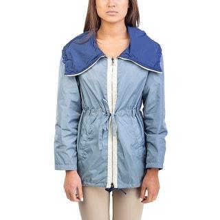 Prada Women's Nylon Reversible Jacket Blue