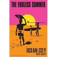 Ocean City, NJ Endless Summer Original Poster (Art Print - Multiple Sizes)
