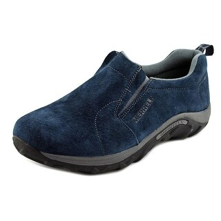 Merrell Jungle Moc Kids Youth Round Toe Suede Blue Loafer