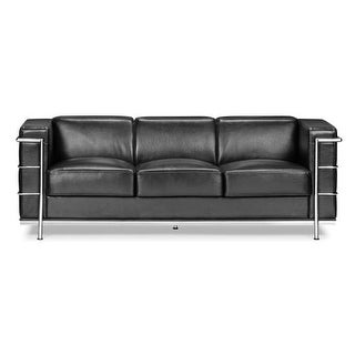 Zuo Modern Fortress Sofa Fortress Chrome Frame Sofa