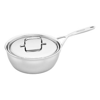 Demeyere 5-Plus Stainless Steel 3.5-qt Saucier - STAINLESS STEEL