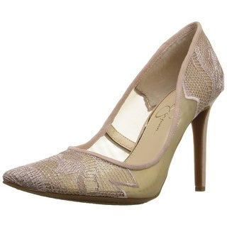 Jessica Simpson Womens Camba Fabric Pointed Toe Classic Pumps