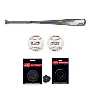 """Link to Rawlings 2018 Velo Hybrid Youth Baseball Bat (31""""/21 oz) with Accessory Bundle Similar Items in Team Sports Equipment"""