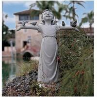 Design Toscano Basking in God's Glory Little Girl Statue: Medium