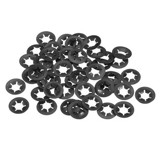 Starlock Washers , M6x14  Internal Tooth Clips Fasteners Kit , Pack of 50