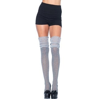 Cozy Patterned Thigh High Stockings, Thick Thigh High Patterned Socks