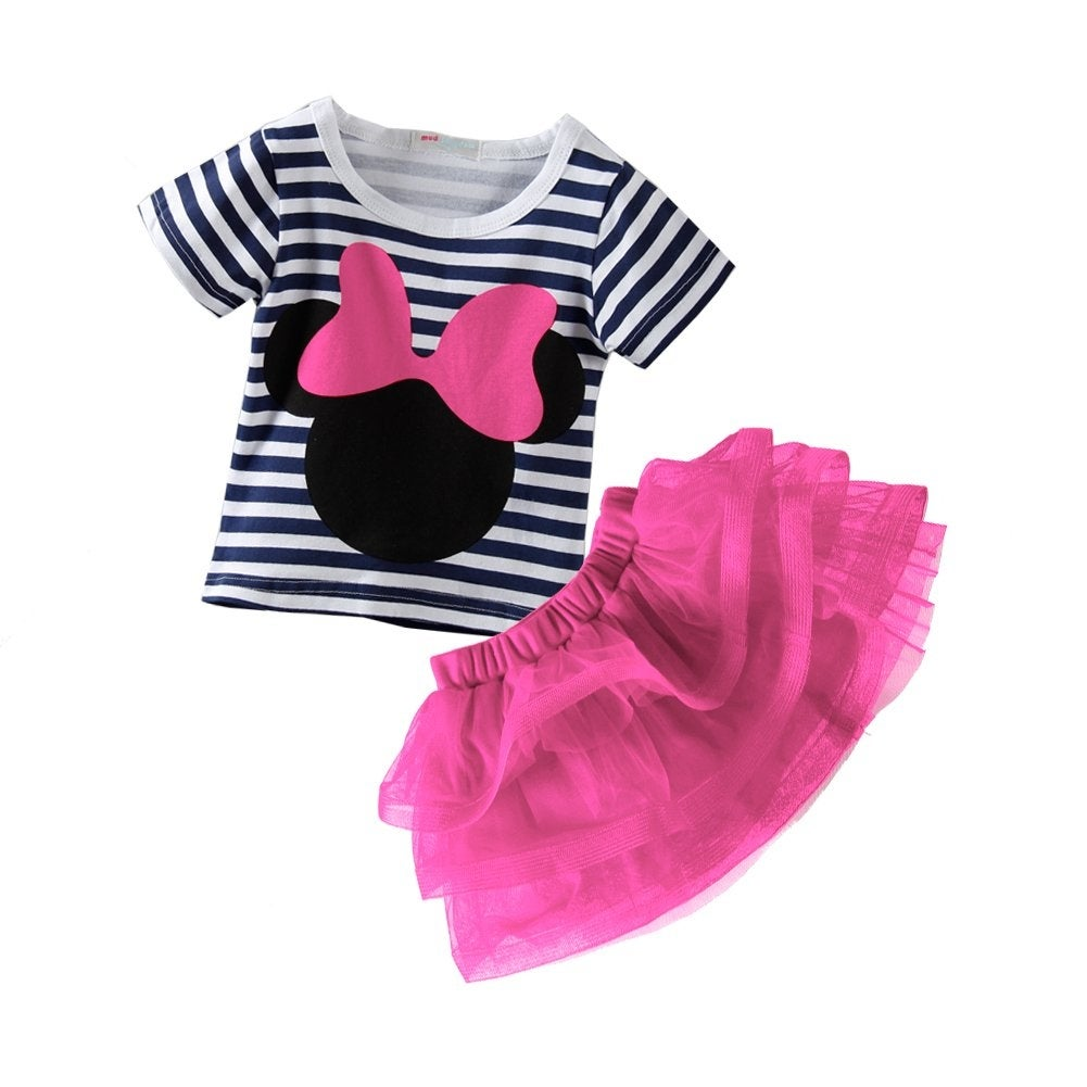 Mud Kingdom Unisex Kids Summer T-Shirt Cute Sequins Pattern