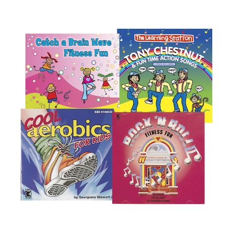 Kimbo Educational Action Movement And Fun CD, Ages 4 and Up, Set of 4