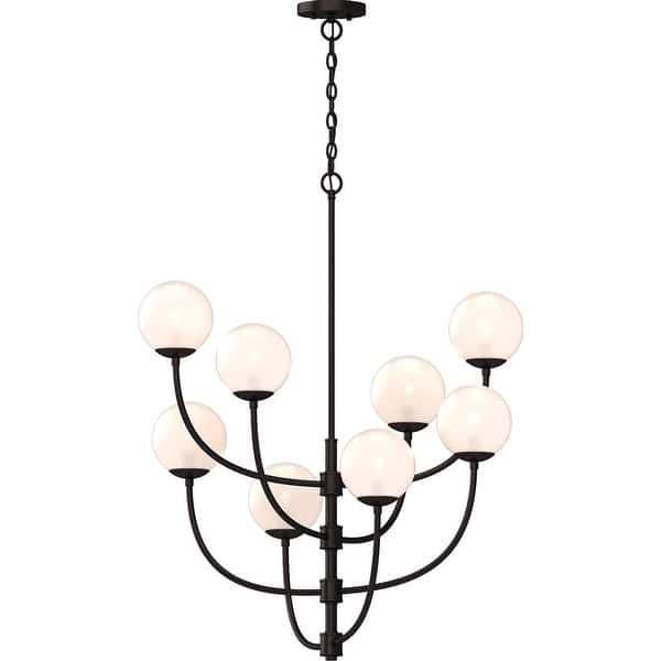 Volume Lighting 2058 Lawrence 8 Light 31 Wide Abstract Chandelier With Clear Gl Orb Shades