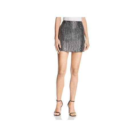 French Connection Womens Desiree Mini Skirt Sequin Special Occasion