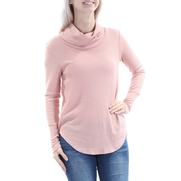 cf1e6c7bcc3693 Shop Womens Pink Long Sleeve Cowl Neck Casual Sweater Size S - Free Shipping  On Orders Over $45 - Overstock - 21391359
