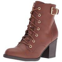 Rampage Women's Justina Ankle Bootie - Dark Brown - 6