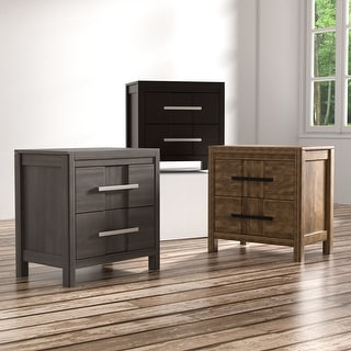 Link to Furniture of America Tass Transitional Solid Wood 2-drawer Nightstand Similar Items in Bedroom Furniture