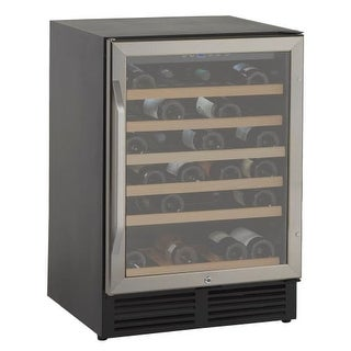 Avanti WCR506 50 Bottle Wine Cooler with Glass Door and Interior Light