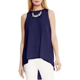 Vince Camuto Womens Tank Top Chiffon High-Low