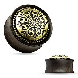 Antique Tribal Pattern Ebony Wood Saddle Fit Plug (Sold Individually)