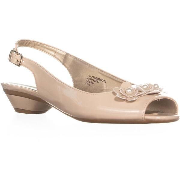 Nude Peep Toe Low Heels