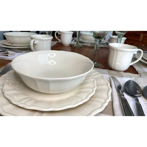 Red Vanilla Antique White 12Pc Dinner Set
