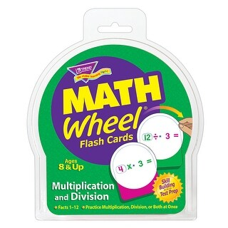 Math Wheel Flash Cards 12/Pk