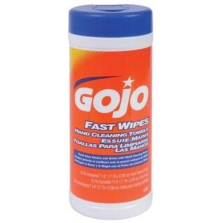 "Gojo 6282-06 Fast Wipes Multi-Purpose Towels, 25 Count, 7"" x 9"""