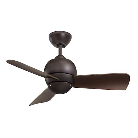 Emerson Tilo 30-Inch Brushed Steel Modern Indoor/Outdoor Ceiling Fan - Silver