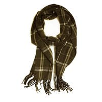 "Super Soft Luxurious Classic Cashmere Feel Winter Scarf - Brown -  72""x12"" with 14"" fringes"