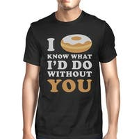 I Doughnut Know Men's Black Casual Graphic T-Shirt Funny Saying