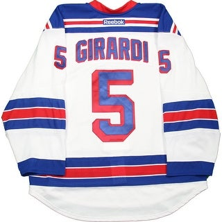 Dan Girardi Jersey New York Rangers 20142015 Playoffs Round Two Game Used 5 White Jersey