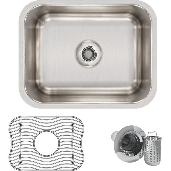 "Elkay ELUH129DBG Gourmet Lustertone 14-1/2"" x 11-3/4"" Single Basin Undermount Kitchen Sink with 7"" Depth, Rounded Basin"