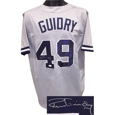 Ron Guidry signed Gray TB Custom Stitched Baseball Jersey XL JSA Hologram 298807a6651