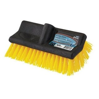 "Unger 964820 Water Flow Stiff Bristle Brush, 10"" Wide"