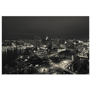 """Buildings near a harbor, Inner Harbor, Baltimore, Maryland"" Poster Print"