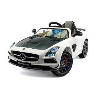 Moderno Kids Mercedes SLS AMG Final Edition 12V Kids Ride-On Car with Parental Remote - White