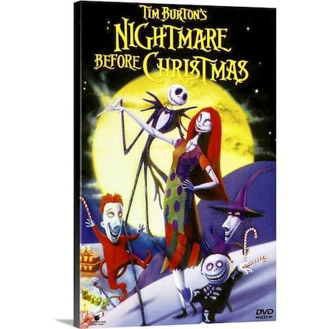 """Tim Burtons The Nightmare Before Christmas (1993)"" Canvas Wall Art"