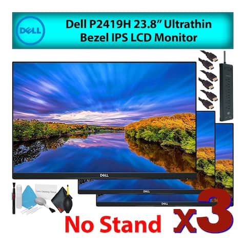 """Dell P2419H 24"""" 16:9 Ultrathin Bezel IPS Computer Monitor without Stand/Mount (3-Pack)"""