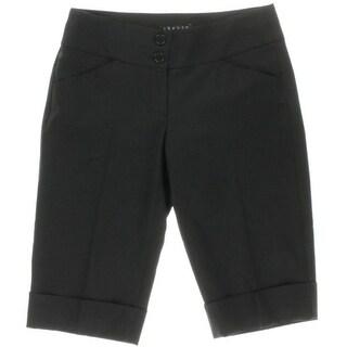 Theory Womens Wool Cuffed Dress Shorts - 2