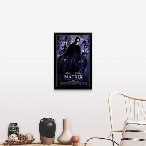 """The Matrix (1998)"" Black Framed Print"