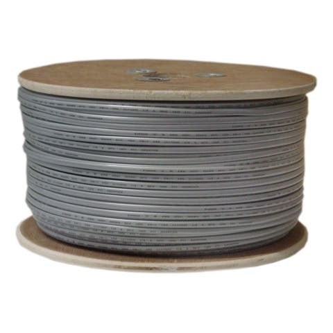 Offex Bulk Phone Cord, Silver Satin, 28/6 (28 AWG 6 Conductor), Spool, 1000 foot