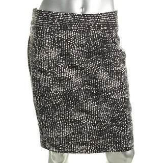 Grace Elements Womens Pencil Skirt Printed Stretch - S