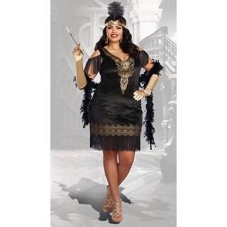Plus Size Swanky Flapper Costume