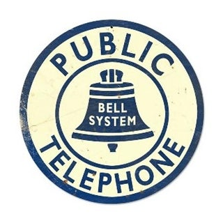 Past Time Signs PTS181 Bell Telephone Home And Garden Round Metal Sign